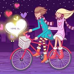 قالب وبلاگ حرفه ای عاشقانه love is